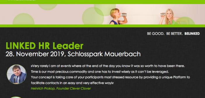 HR Event-Tipp: Linked HR Leader. Co-Sponsored by Pavelka-Denk